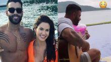 Andressa Suíta posta vídeo de Gusttavo Lima tocando violão e cantando à beira-mar