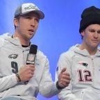 Amused Nick Foles takes the high road over Tom Brady handshake snub