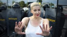 Activista bielorrusa desafía orden para abandonar el país