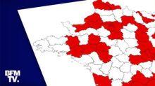 """Covid-19: une nouvelle carte dévoilée ce mercredi soir avec des zones """"super rouges"""" et """"écarlates"""""""