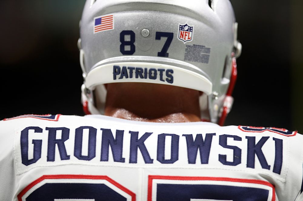 Rob Gronkowski will miss Monday's game against the Miami Dolphins due to suspension. (Getty Images)