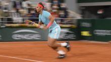 Roland-Garros (H) - Roland-Garros: Rafael Nadal colle un 6-0 à Novak Djokovic dans le premier set de la finale