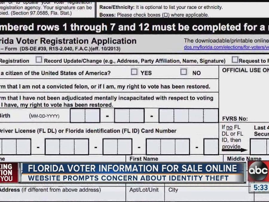 graphic regarding Form Ds 71 Printable known as FL voter information and facts revealed on the web, like minors