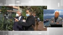 Liguria, primo cittadino di Ventimiglia derubato in diretta della sua giacca e della fascia tricolore