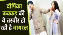 Dipika Kakar Looks Very Beautiful In Gopi Vaid Blue Sharara