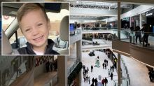 Boy thrown from shopping centre balcony returns home five months later