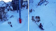 Lucky escape after freak chairlift accident at Thredbo ski field