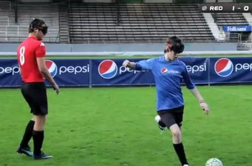 Pepsi's 'Sound of Football' project lets visually impaired players see the pitch with their ears (video)