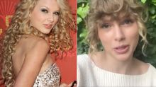 Taylor Swift comes out of hiding rocking her natural curls