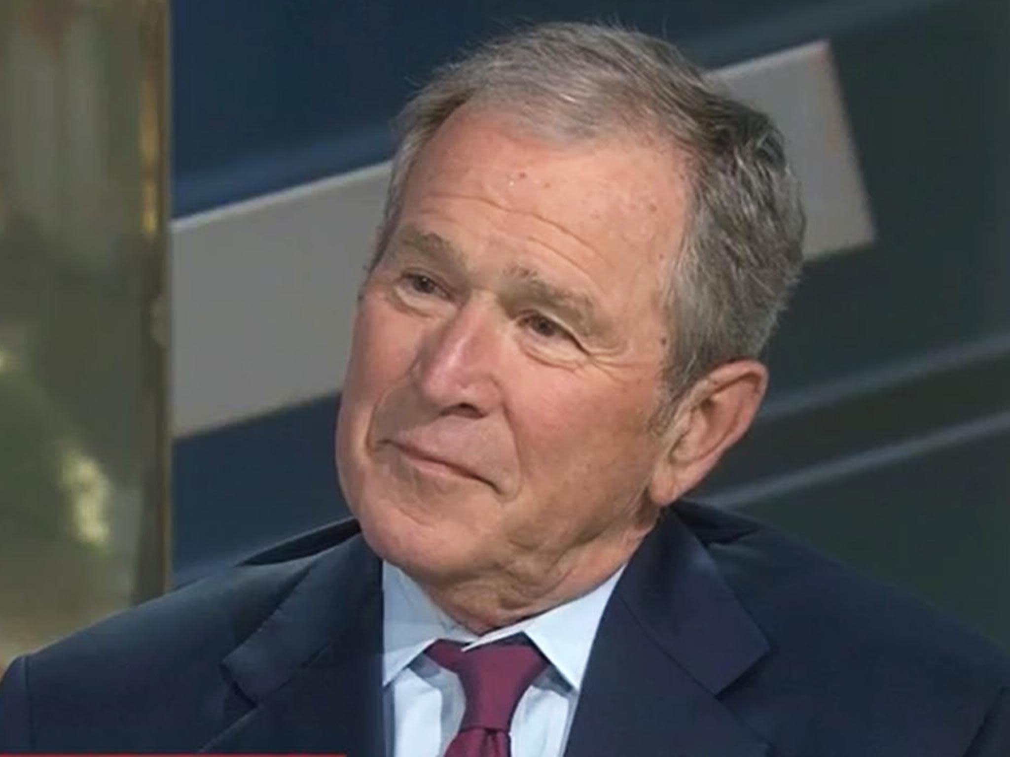 George W Bush says he's 'disturbed' by immigration rhetoric under Trump