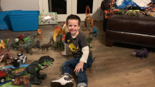After a 4-year-old lost his beloved dinosaur collection in wildfire, community donates toys