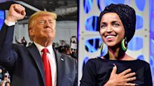 Twitter users side with either Ilhan Omar or Trump as hashtag warfare erupts
