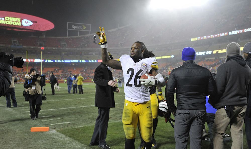 Le'Veon Bell is holding out after not agreeing to a long-term deal with the Steelers. (AP)