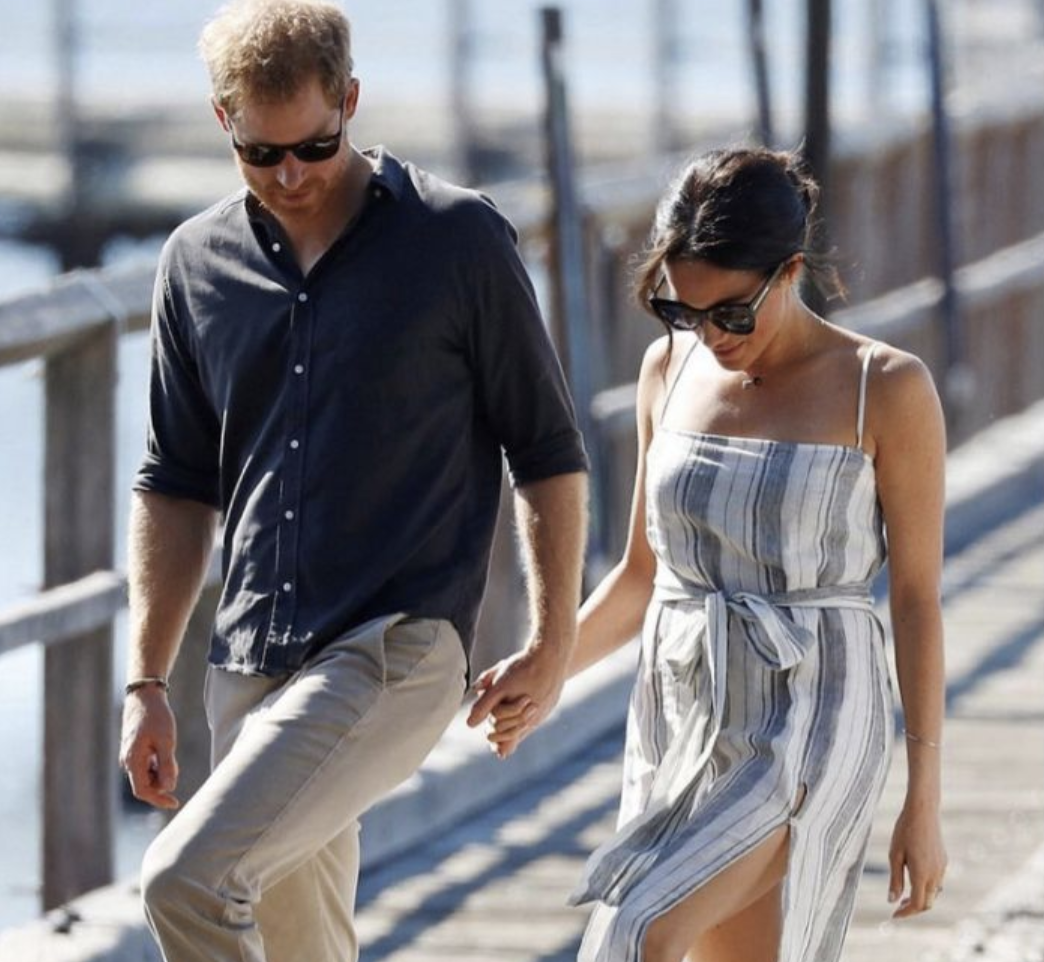 fb2762db67 Meghan Markle shamed for wearing dress with thigh-high slit