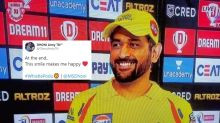 'Dhoni's Smile is Back': CSK's Emphatic 10-Wicket Win Over KXIP Brings Thala Fans Alive on Twitter
