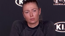 Sharapova in frosty exchange with journo over 'pathetic' act