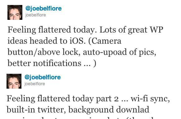Microsoft's Joe Belfiore kicks off iOS5 'we did it first' contest, sarcasm meter hits 11
