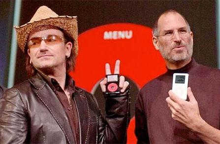 Bono compares Steve Jobs to Elvis