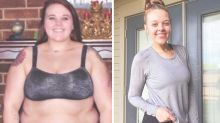 Woman unrecognisable after going from size 22 to size 6