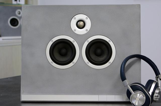Master and Dynamic developed its own concrete for its first speaker
