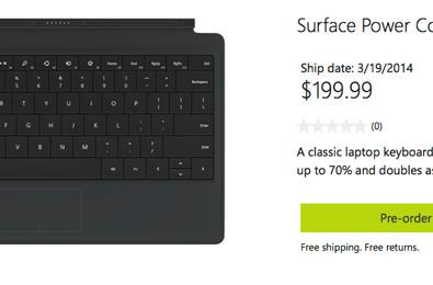 Microsoft Power Cover doubles the Surface's battery life for $200 on March 19th