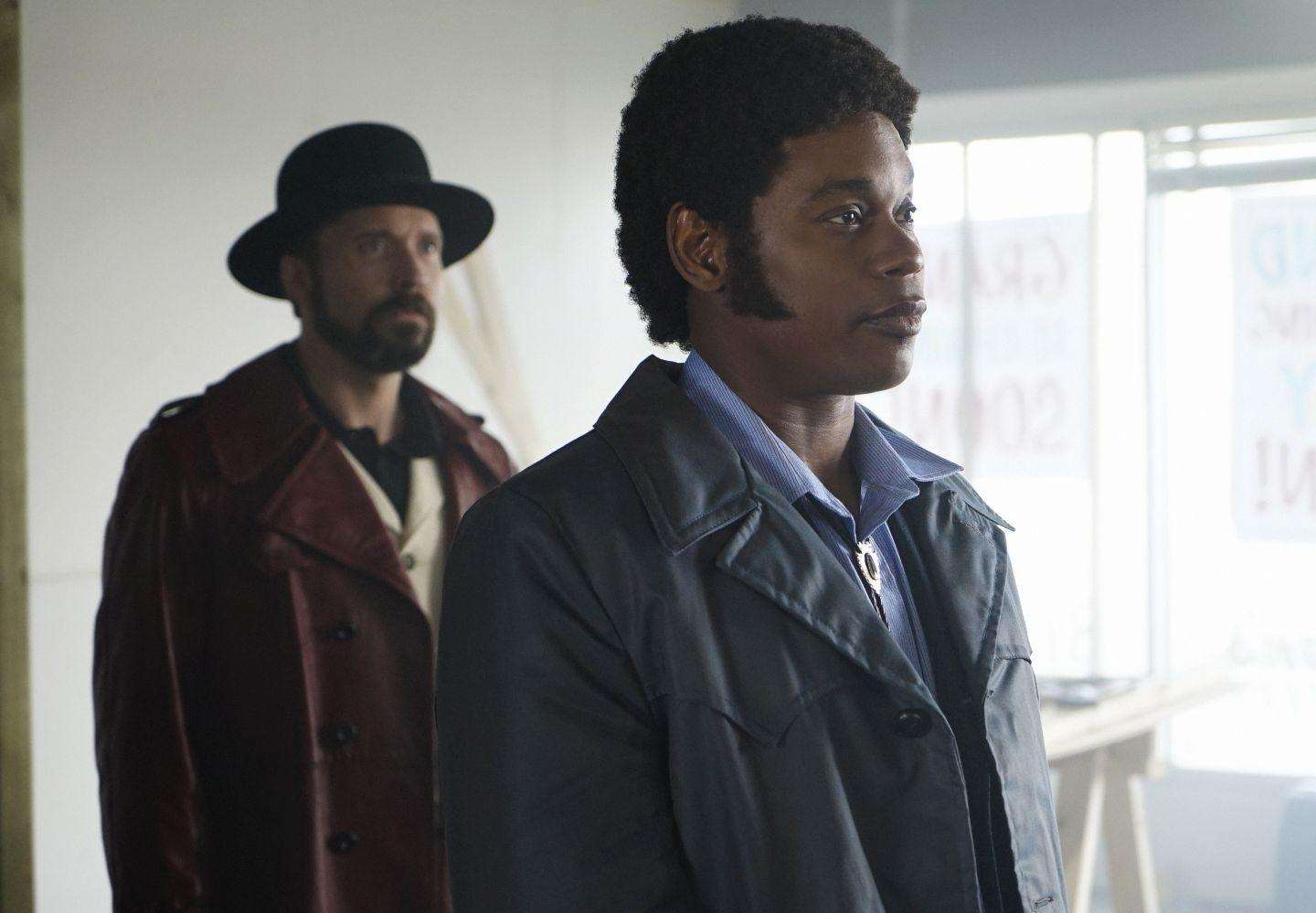 Pictured: (l-r) Brad Mann as Gale Kitchen, Bokeem Woodbine as Mike Milligan