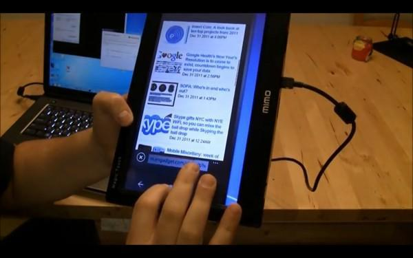 Mimo Magic Touch screen combined with WP7 emulator to make impromptu Windows Phone tablet