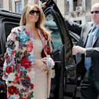Melania Trump wore a coat that costs more than most Americans earn in a year