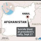 Blast outside president rally in central Afghanistan kills at least 24
