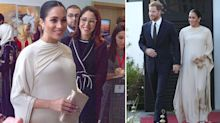 Meghan Markle looks stunning in Dior for evening reception in Morocco