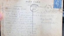 'Surreal': WWII veteran's postcard finally delivered 77 years later