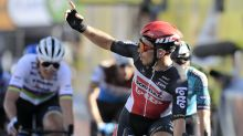 Hectic end to stage 11 sees Caleb Ewan snatch win and Peter Sagan land penalty