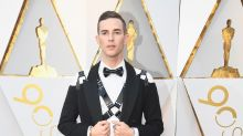 Adam Rippon Wears Stylish Leather Harness to the 2018 Oscars -- See His Look!