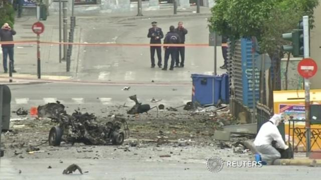 Bomb targets Bank of Greece