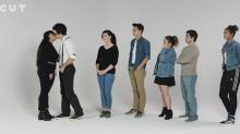 Blindfolded men and women rate strangers' kissing skills in new social media experiment