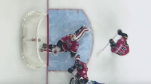 Jon Gillies makes disgustingly good behind the back save (Video)