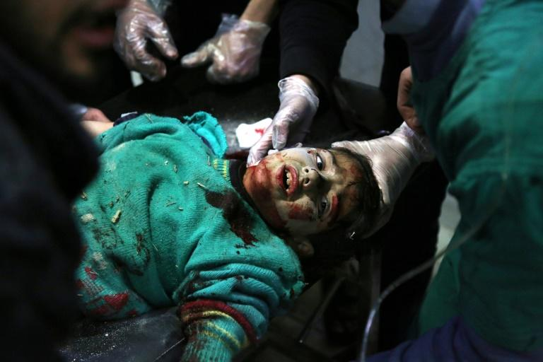 The team in 'The Cave' were often the first to respond and the last hope for civilian victims -- many of them children -- hit by relentless waves of Russian and Syrian regime bombing (AFP Photo/Mohammed EYAD)