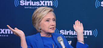 Clinton blasts Trump over private emails