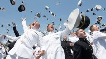 U.S. Naval Academy graduation; Trump delivers remarks