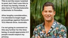 Bachelor in Paradise's Jamie Doran announces he's suing Network Ten