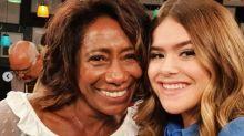 Maísa Silva comemora ida a programa do Porchat  e tieta Glória Maria