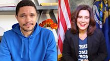 Gov. Gretchen Whitmer wears 'That Woman from Michigan' T-shirt on 'The Daily Show with Trevor Noah'