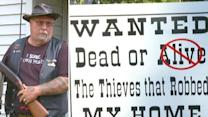 Homeowner serious about catching crooks