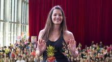 Malena Costa reaparece embarazada practicando zumba