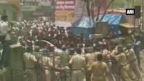 Violent clash breaks out between NCP MLA's supporters and police in Solapur