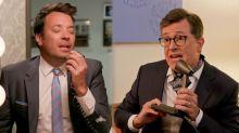 Jimmy Fallon, Stephen Colbert recreate 'NeverEnding Story'moment from 'Stranger Things'