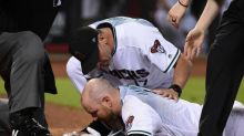 Chris Iannetta available to play after being hit by pitch in mouth