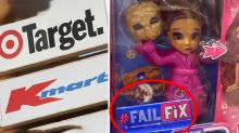 Shoppers slam Kmart, Target over 'disturbing' 'Fail Fix' doll