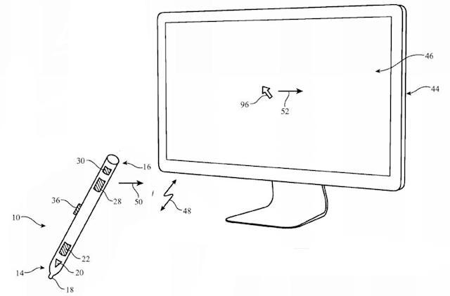 Apple patents stylus that doubles as a joystick, air mouse