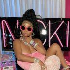 Nicki Minaj Wore Pink Crocs and Not Much Else